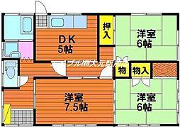 [一戸建] 岡山県岡山市中区赤坂本町丁目なし の賃貸【/】の間取り