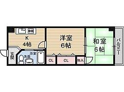 新大阪第2ダイヤモンドマンション[8階]の間取り