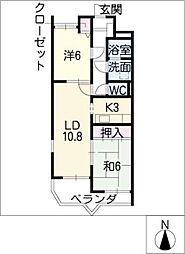 ビューラー樋田[1階]の間取り