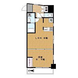 ミラージュガーデン806号室[806号室]の間取り