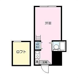 パレス蒔田III[203号室]の間取り