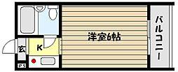 兵庫県神戸市東灘区御影中町6の賃貸マンションの間取り