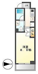 COZY阿由知通[8階]の間取り