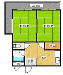 淡路丸富マンション[2階]の間取り