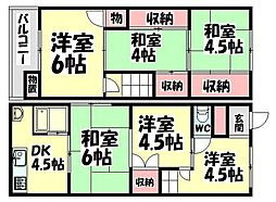 [一戸建] 大阪府和泉市上代町 の賃貸【/】の間取り
