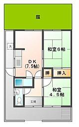 [一戸建] 愛知県北名古屋市沖村天花寺 の賃貸【/】の間取り
