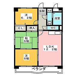 ハピネス五反田[4階]の間取り