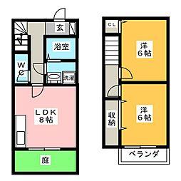 グロリアス平島II[2階]の間取り