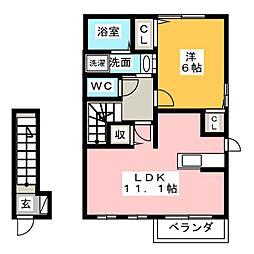 エアリーI[2階]の間取り