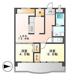 愛知県名古屋市港区小碓3の賃貸マンションの間取り