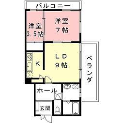 岐阜県岐阜市常盤町の賃貸アパートの間取り