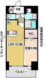 名古屋市営東山線 新栄町駅 徒歩2分の賃貸マンション 8階1LDKの間取り