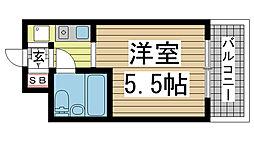 ライオンズマンション三宮[6階]の間取り