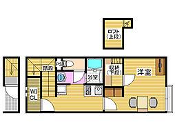 レオパレスK南片江II[2階]の間取り