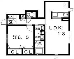 シャーメゾン プルニエ[B103号室号室]の間取り