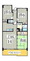 キャピタルステート[5階]の間取り