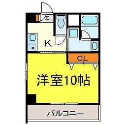 スターハイム徳川II[4階]の間取り
