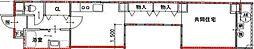 Osaka Metro御堂筋線 心斎橋駅 徒歩18分の賃貸マンション 6階1LDKの間取り