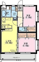(仮称)日南・星倉マンション 1階2LDKの間取り