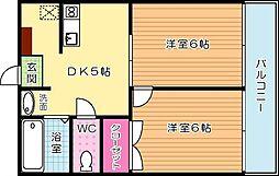 長浜ハイツ[201号室]の間取り