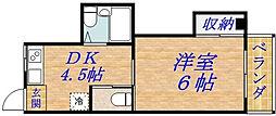 マンション華[1階]の間取り