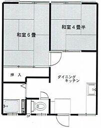 神奈川県横浜市泉区中田南2丁目の賃貸アパートの間取り