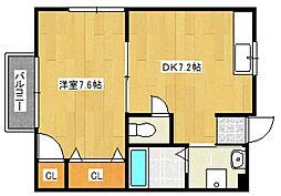 稲冨アパート[2階]の間取り