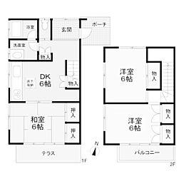 東林間テラスハウス[1階]の間取り