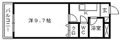 ゴールドサークル小松[206号室]の間取り