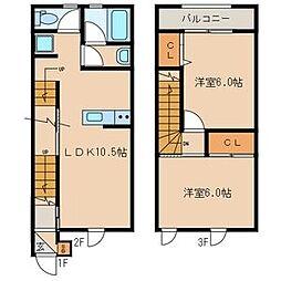 [テラスハウス] 福岡県糸島市浦志2丁目 の賃貸【/】の間取り