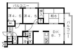 エムズコート[2階]の間取り