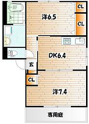 咲ら坂HiI棟[1階]の間取り
