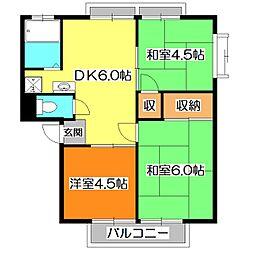 メゾンドマキ[2階]の間取り