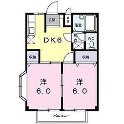 メゾングランパス[2階]の間取り