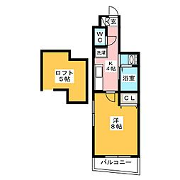 アルブル吉塚[2階]の間取り