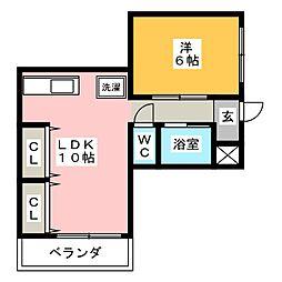 ピアネーズ桜[2階]の間取り