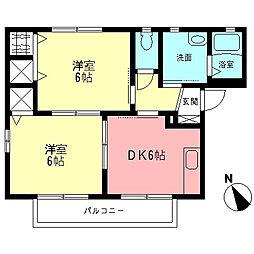 ウノハイツ[2階]の間取り