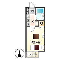 ソレイユ長野[2階]の間取り