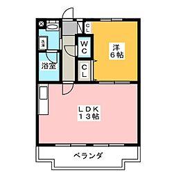 静岡県浜松市東区半田山5の賃貸マンションの間取り