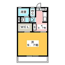 アムール美鈴 B[2階]の間取り
