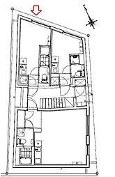 JR中央本線 西荻窪駅 徒歩10分の賃貸マンション 1階ワンルームの間取り