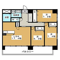 Ceres志賀本通[15階]の間取り
