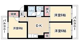 愛知県名古屋市昭和区萩原町1丁目の賃貸マンションの間取り