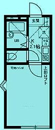 タウンコート登戸[2階]の間取り