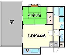 ラフォーレ千林II[1階]の間取り