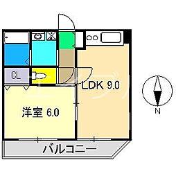 パールハイツ(役知町)[2階]の間取り