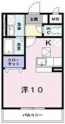 タウンルームけまり[102号室号室]の間取り