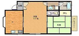 ハイツKB−21[1F号室]の間取り