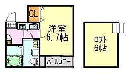 COSMOSII(コスモスツー)[203号室]の間取り