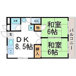 村田マンション[2階]の間取り